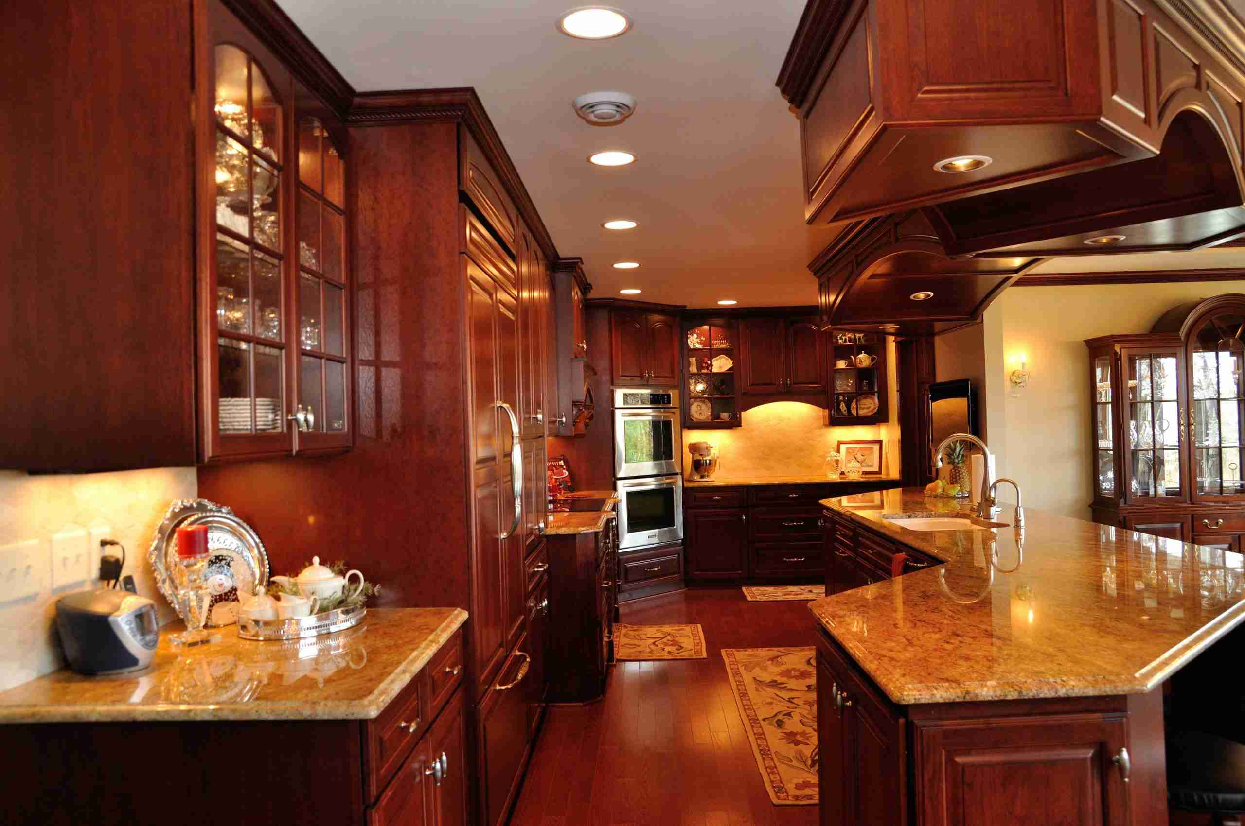Custom Stained Kitchen